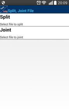 Split, Joint File. Free Ekran Görüntüsü 7