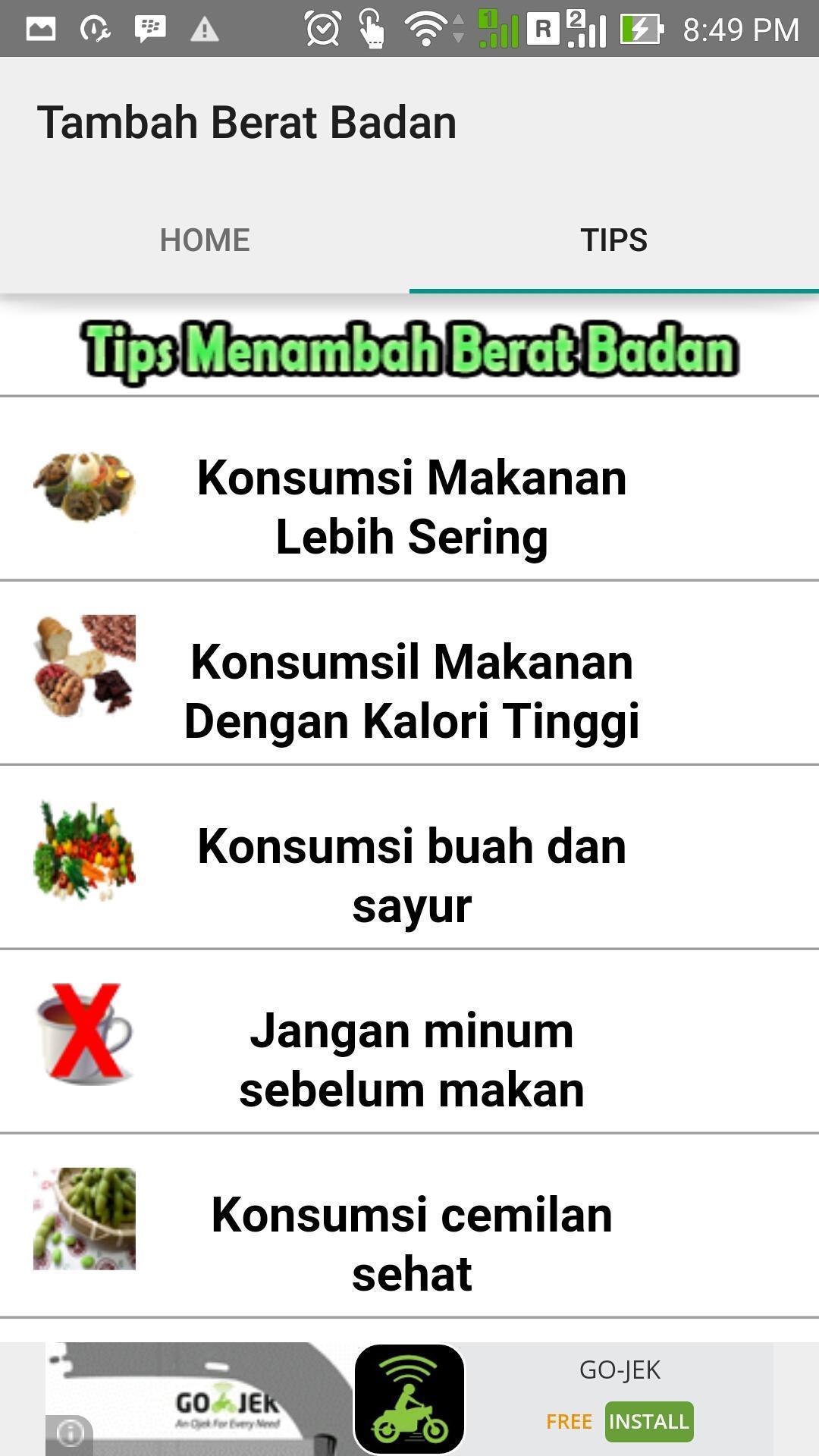 Tips Menambah Berat Badan For Android Apk Download