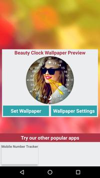 Beauty Clock Live Wallpaper apk screenshot
