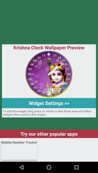 Krishna Live Clock Wallpaper screenshot 3