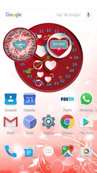 Valentine Clock Live Wallpaper apk screenshot