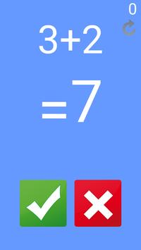 Math Game Plus - Game for kids ,  quick thinking poster