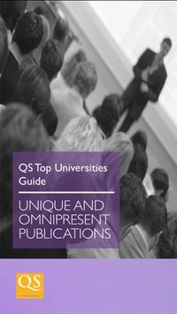 QS Top Universities Guide poster