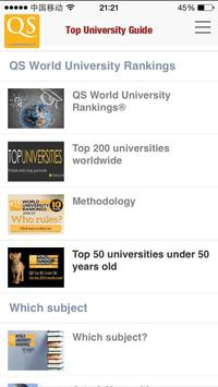 QS Top Universities Guide apk screenshot