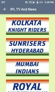 IPL Live TV Score Update poster