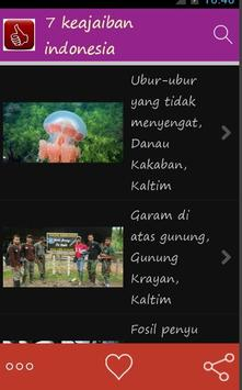 tujuh keajaiban indonesia poster