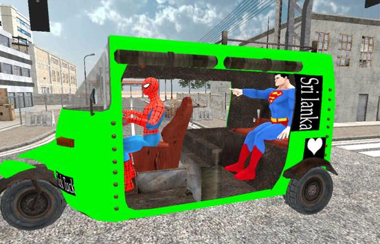 Spider Hero Tuk Tuk Rikshaw drift Parking poster