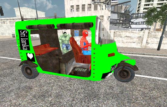 Spider Hero Tuk Tuk Rikshaw drift Parking screenshot 7