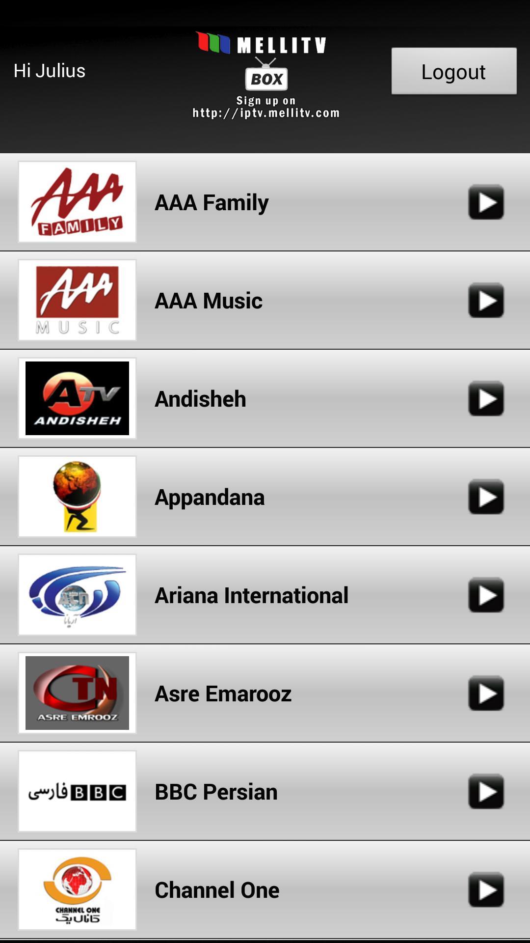 Andisheh tv live internet