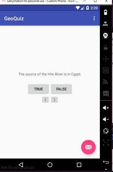 Location quiz apk screenshot