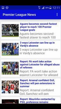 Premier League Soccer News screenshot 1