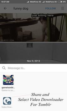 Video Downloader for Tumblr apk screenshot