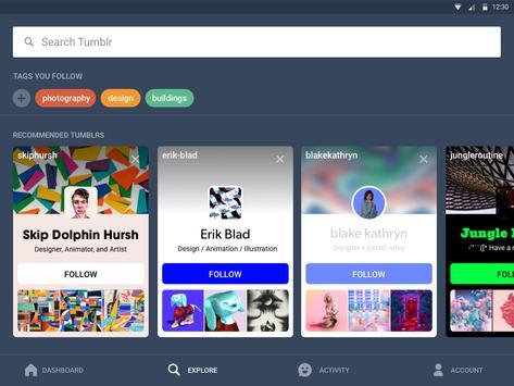 Tumblr apk スクリーンショット