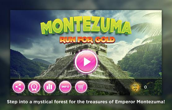 Run for Gold - Montezuma poster