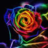Neon rose live wallpaper icon