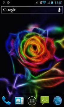 Neon rose live wallpaper poster