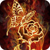 Rose and butterfly live wp icon