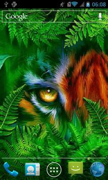 Masked tiger live wallpaper poster