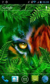 Masked tiger live wallpaper apk screenshot