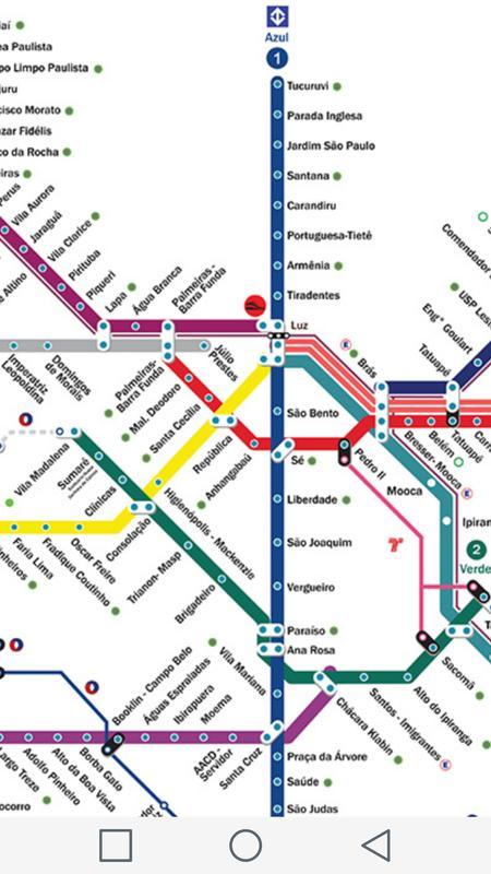 Sao Paulo Subway Map für Android - APK herunterladen