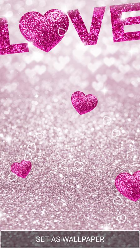 Glitter Love Wallpaper APK Download - Free Personalization ...