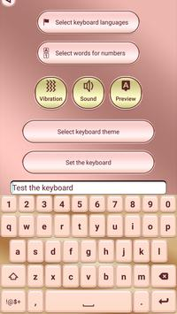 Pink Rose Gold Custom Keyboard screenshot 4