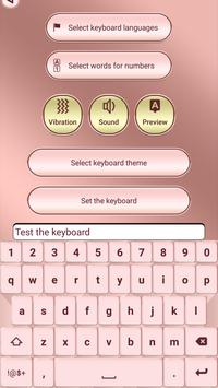 Pink Rose Gold Custom Keyboard poster