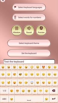 Pink Rose Gold Custom Keyboard screenshot 1
