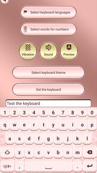 Pink Rose Gold Custom Keyboard screenshot 2