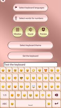 Pink Rose Gold Custom Keyboard screenshot 3
