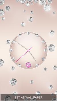 Purple Diamond Clock Live Wallpaper screenshot 1