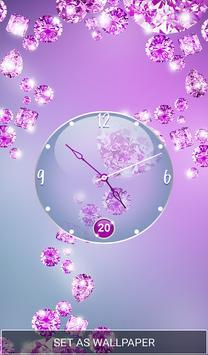 Purple Diamond Clock Live Wallpaper screenshot 6