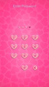 Valentine Zipper Lock Screen screenshot 1