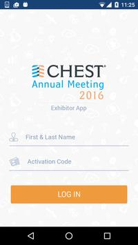 Exhibitor App - CHEST 2016 poster