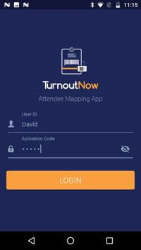 Attendee Mapping App - TurnoutNow poster