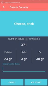 Calories Counter apk screenshot