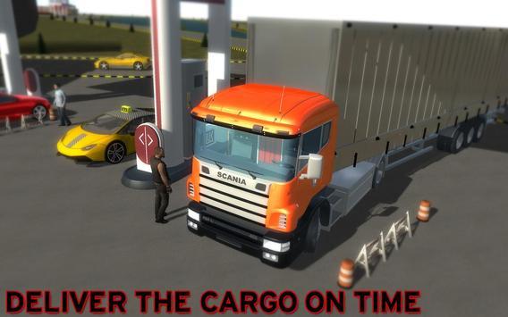 Cargo Truck Transportation 3D poster