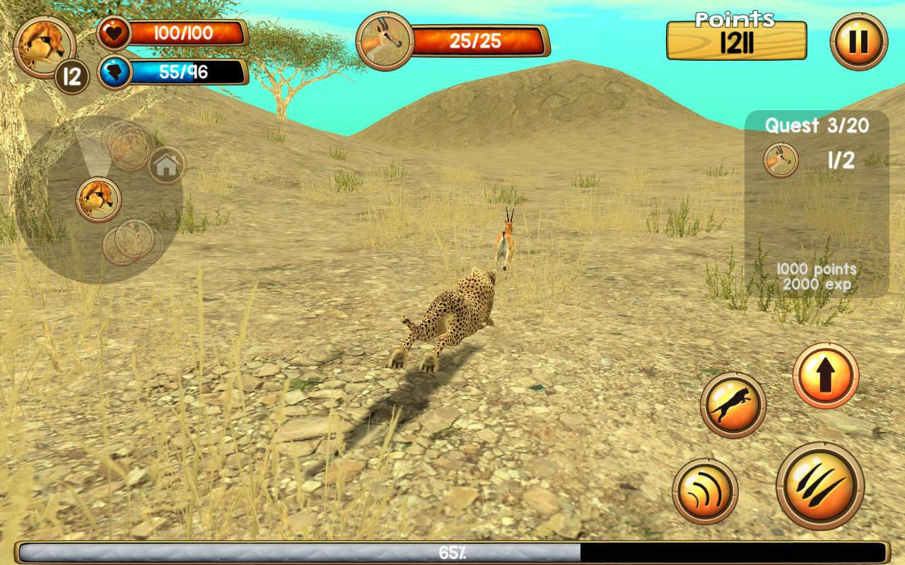 Wild cheetah sim 3d apk download gratis simulasi for Simulatore 3d