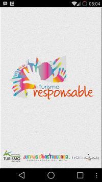 turismo responsable meta poster