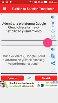 Turkish to Spanish Translator apk screenshot