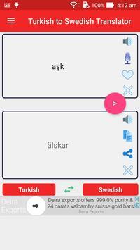 Turkish to Swedish Translator poster