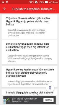 Turkish to Swedish Translator screenshot 15