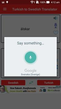 Turkish to Swedish Translator screenshot 2