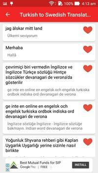 Turkish to Swedish Translator screenshot 4