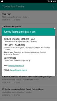 Turkey Exhibition Calendar apk screenshot
