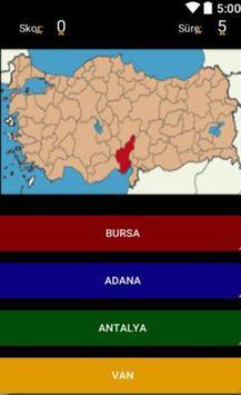 Türkiyemin İlleri captura de pantalla 1