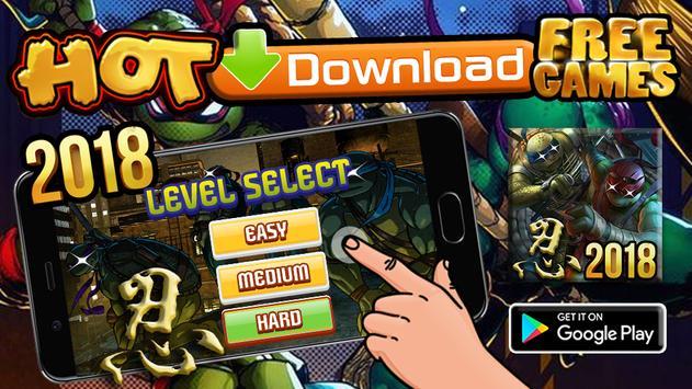 Turtle Ninja Underground Escape Rush poster