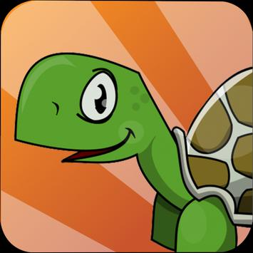 Turtle Running Hill Climb Free poster