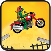 Turtle Motobike Ninja Adventur icon