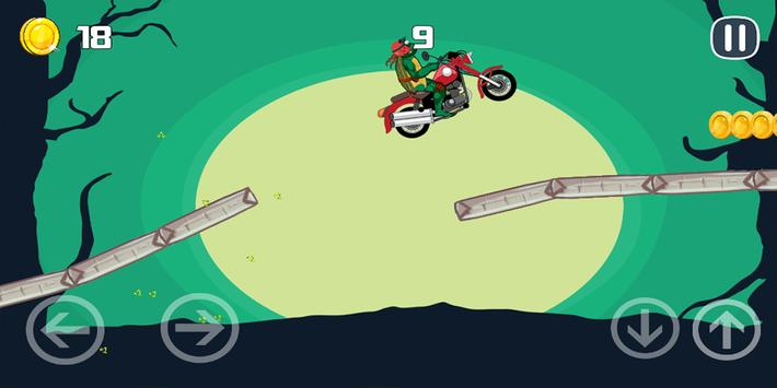 Turtle Motobike Ninja Adventur apk screenshot